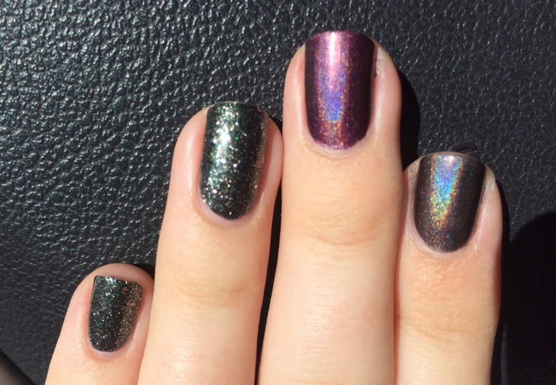 Galactic Gray definitely has a stronger holo beam(?) than When Stars Collide.